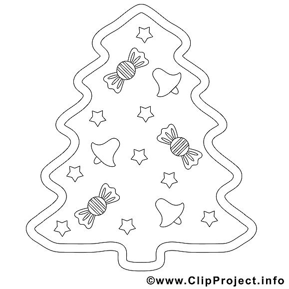 Régalade clip art – Noël image à colorier
