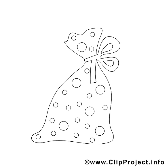 Sac illustration – Noël à imprimer
