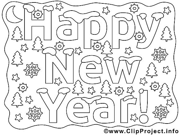 Bon réveillon clip arts – Nouvel an à imprimer