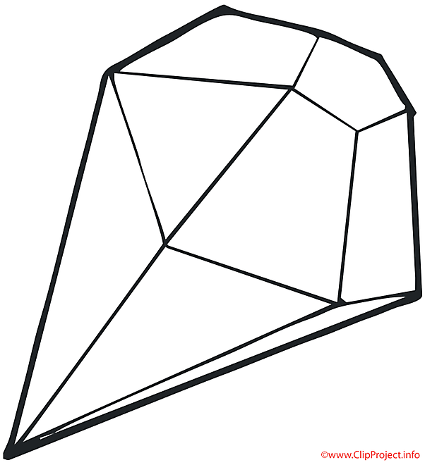 Diamant coloriage objets coloriages dessin picture - Diamant dessin ...