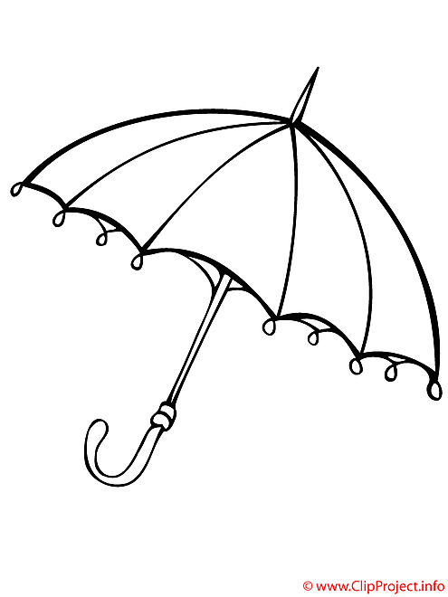 Parapluie coloriage