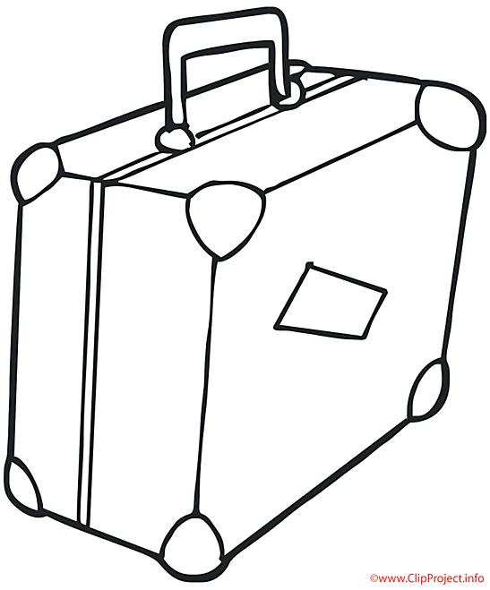 Valise coloriage objets coloriages dessin picture - Dessin de valise ...