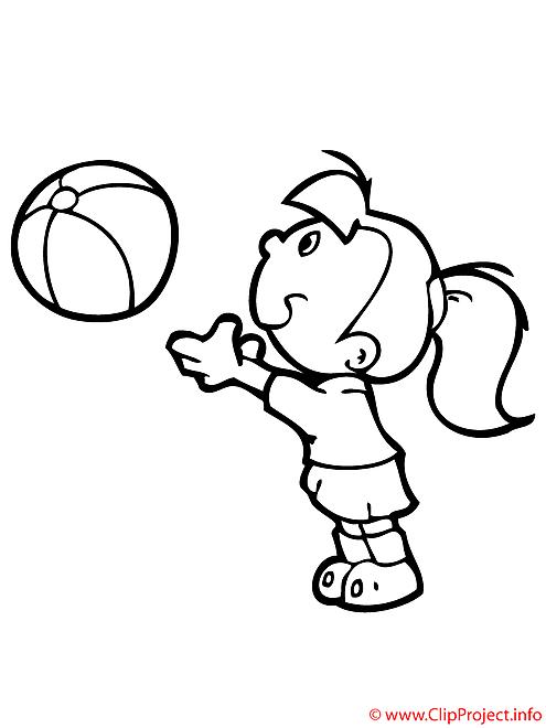 le jeu du ballon coloriage 2155