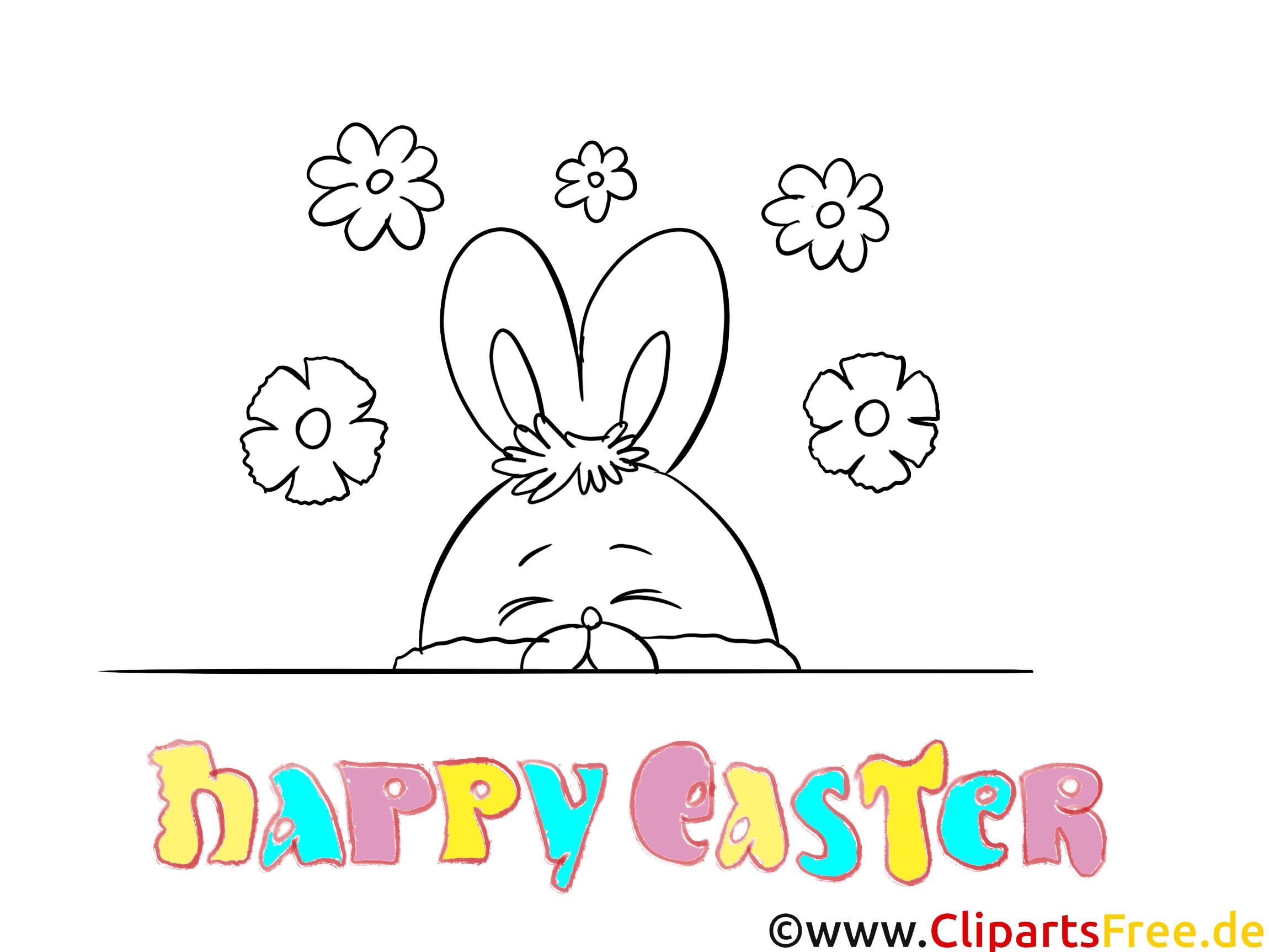 Clip Art Gratuit Lapin Pâques à Imprimer Pâques