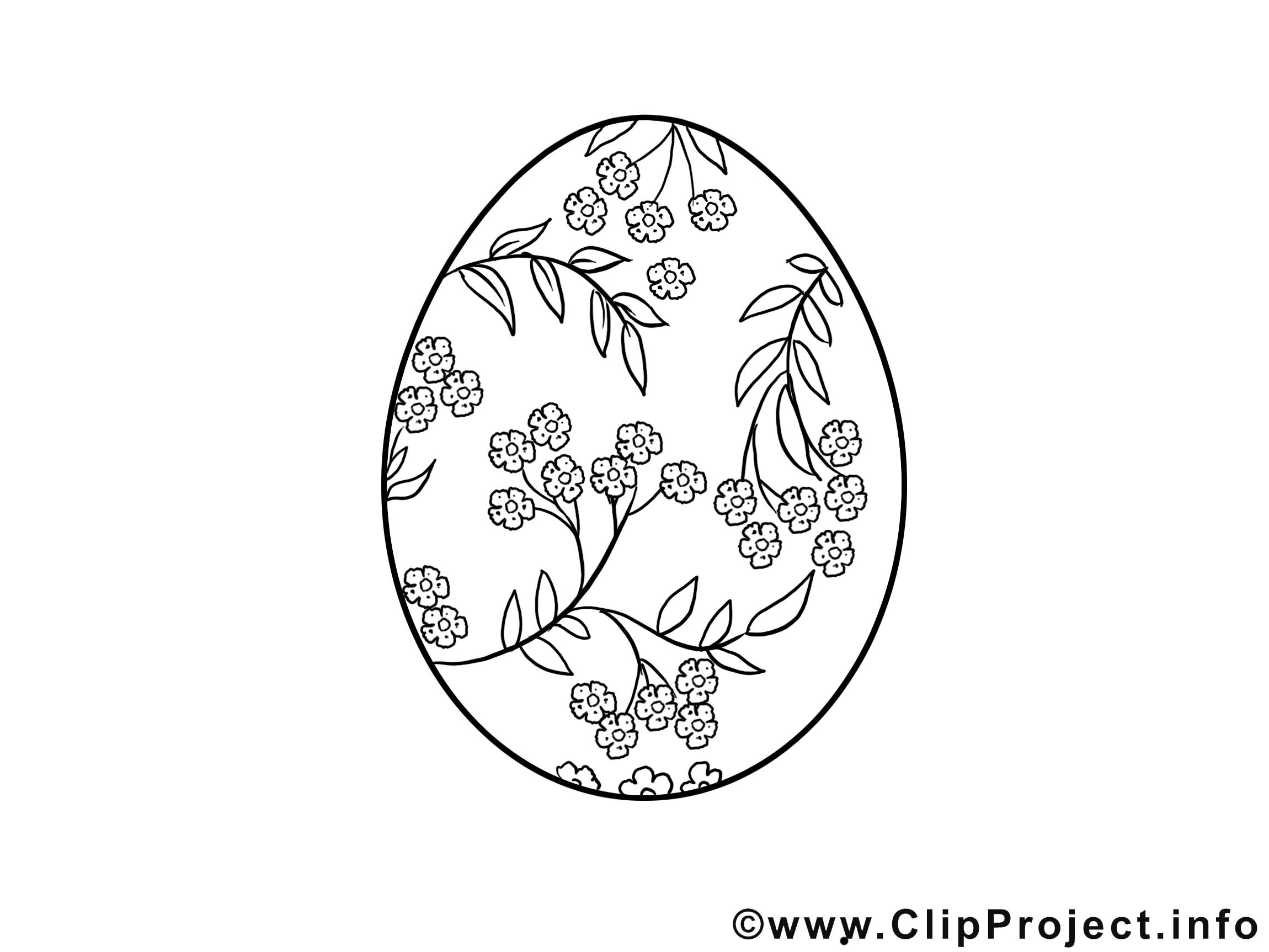 coloriage oeuf pâques image à télécharger  pâques