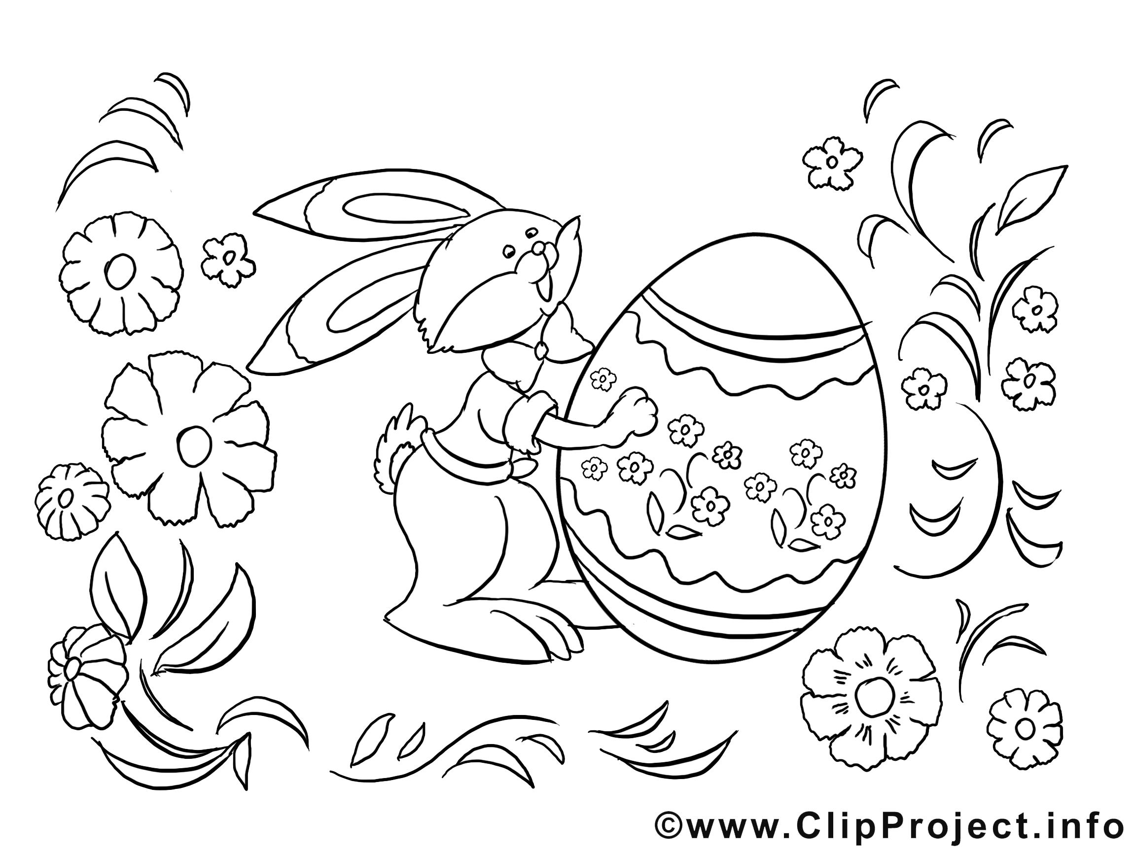 dessin fleur – coloriage pâques à télécharger