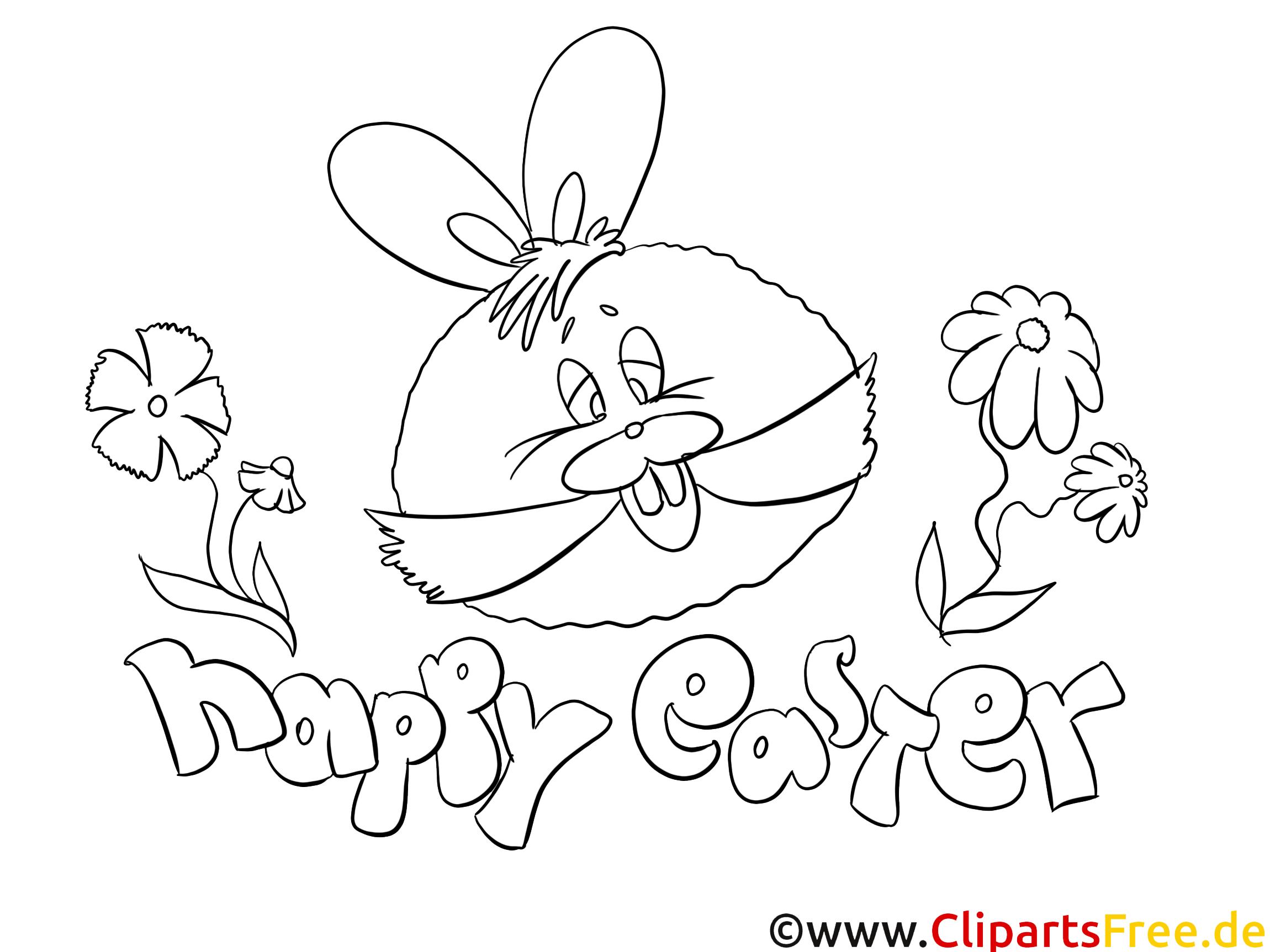 Dessins Gratuits Lapin Pâques à Colorier Pâques