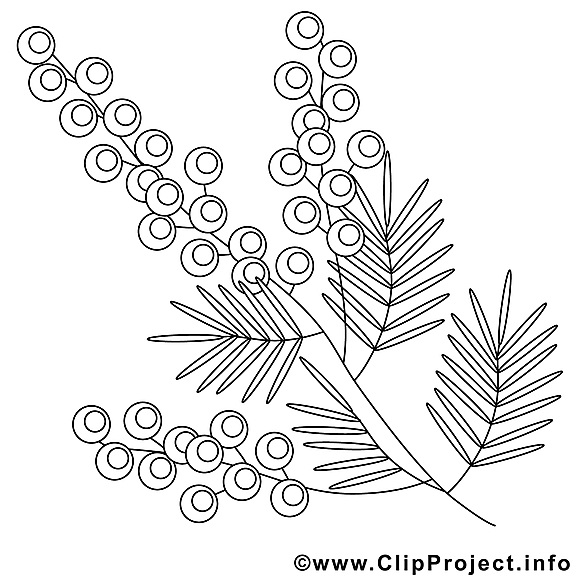 Fleurs image – Coloriage pâques illustration