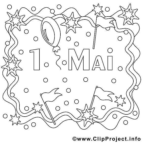 Journée internationale dessin – Coloriage premier mai