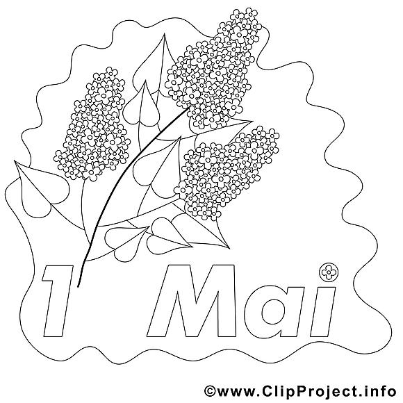 Lilas clip art gratuit – Premier mai à imprimer