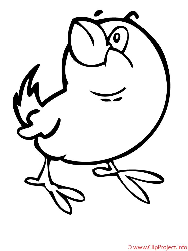Oiseau Clipart Gratuit Printemps A Colorier Printemps