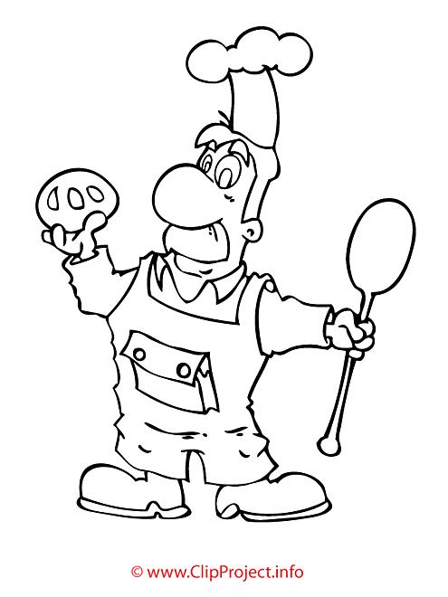 Boulanger coloriage