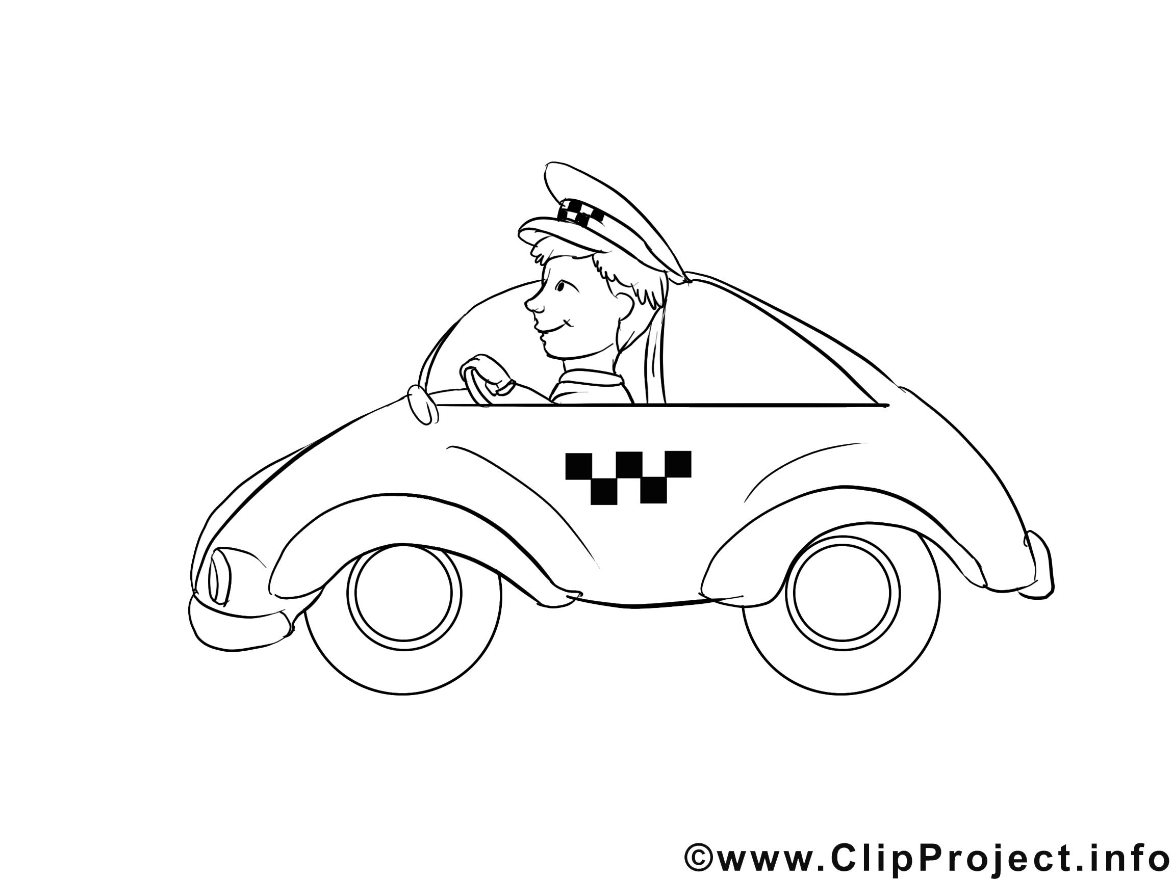 Chauffeur dessins gratuits – Métiers à colorier
