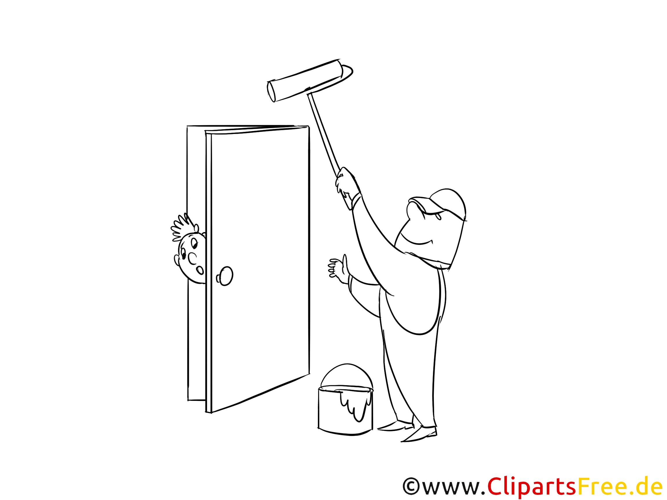 Cliparts gratuis peintre – Métiers à imprimer