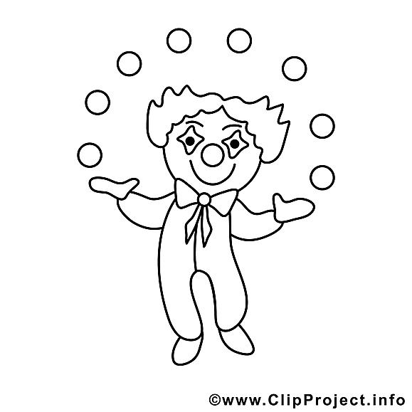 Clown dessins gratuits – Métiers à colorier