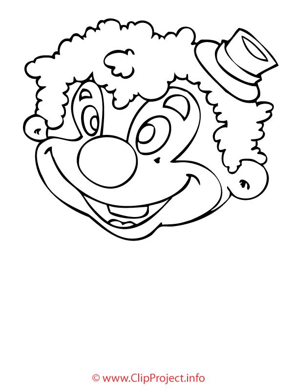 Clown image gratuite – Métiers à colorier