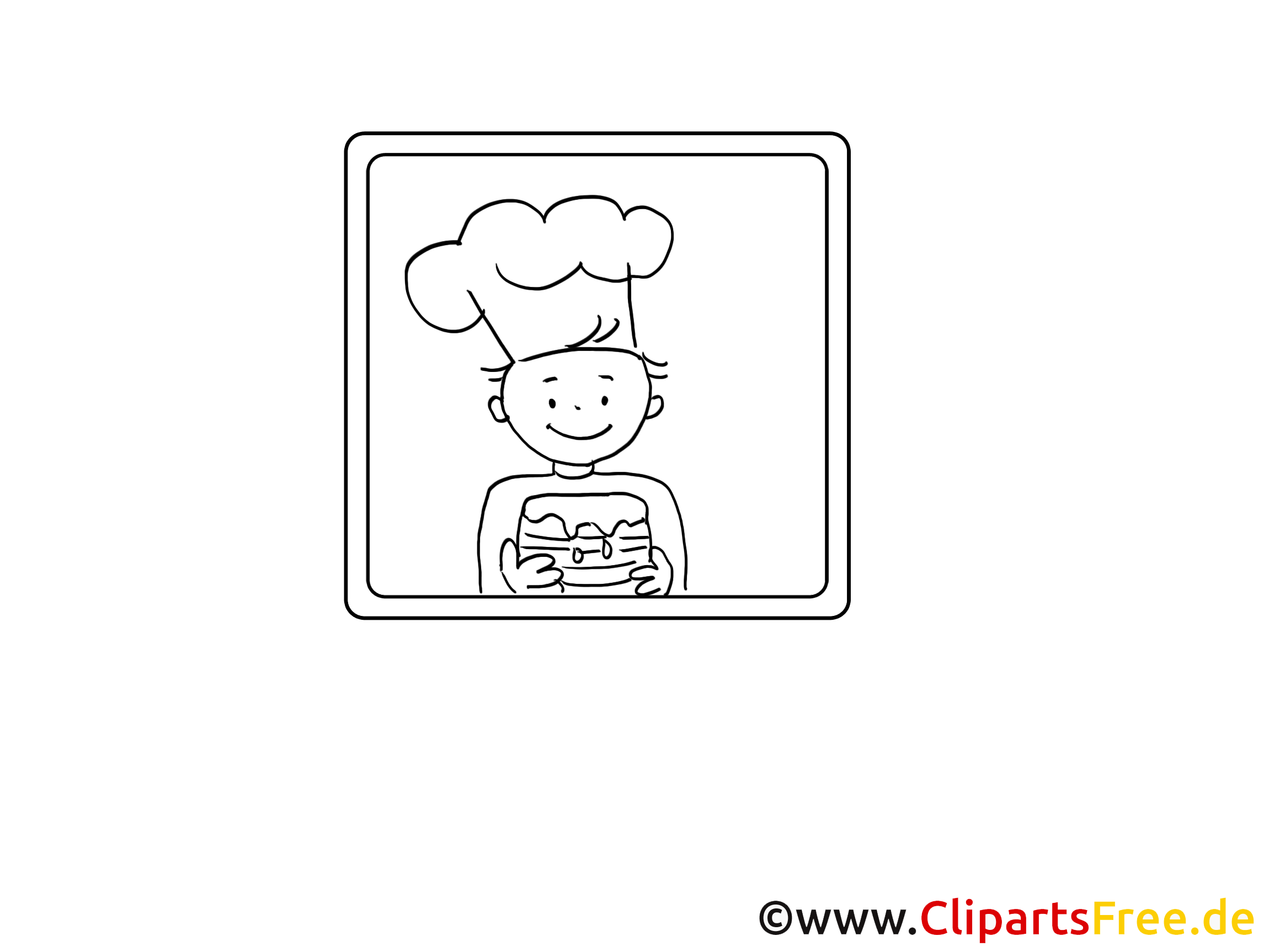 Cuisinier clip arts – Métiers à imprimer
