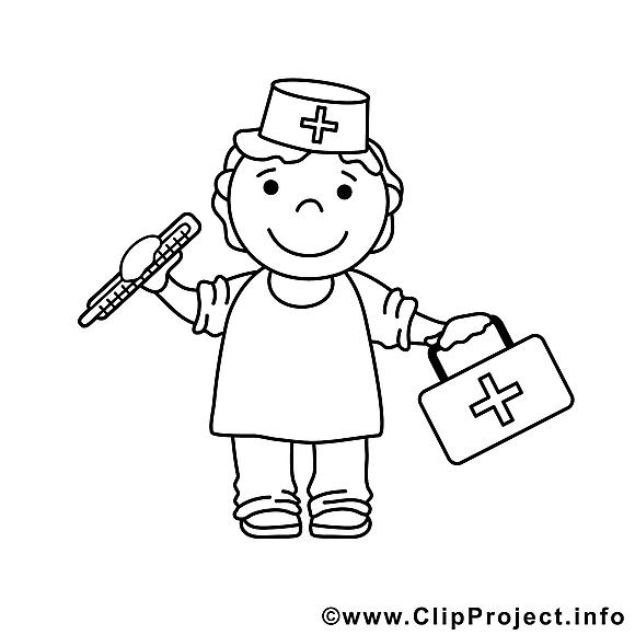 Docteur clip art gratuit – Métiers à colorier