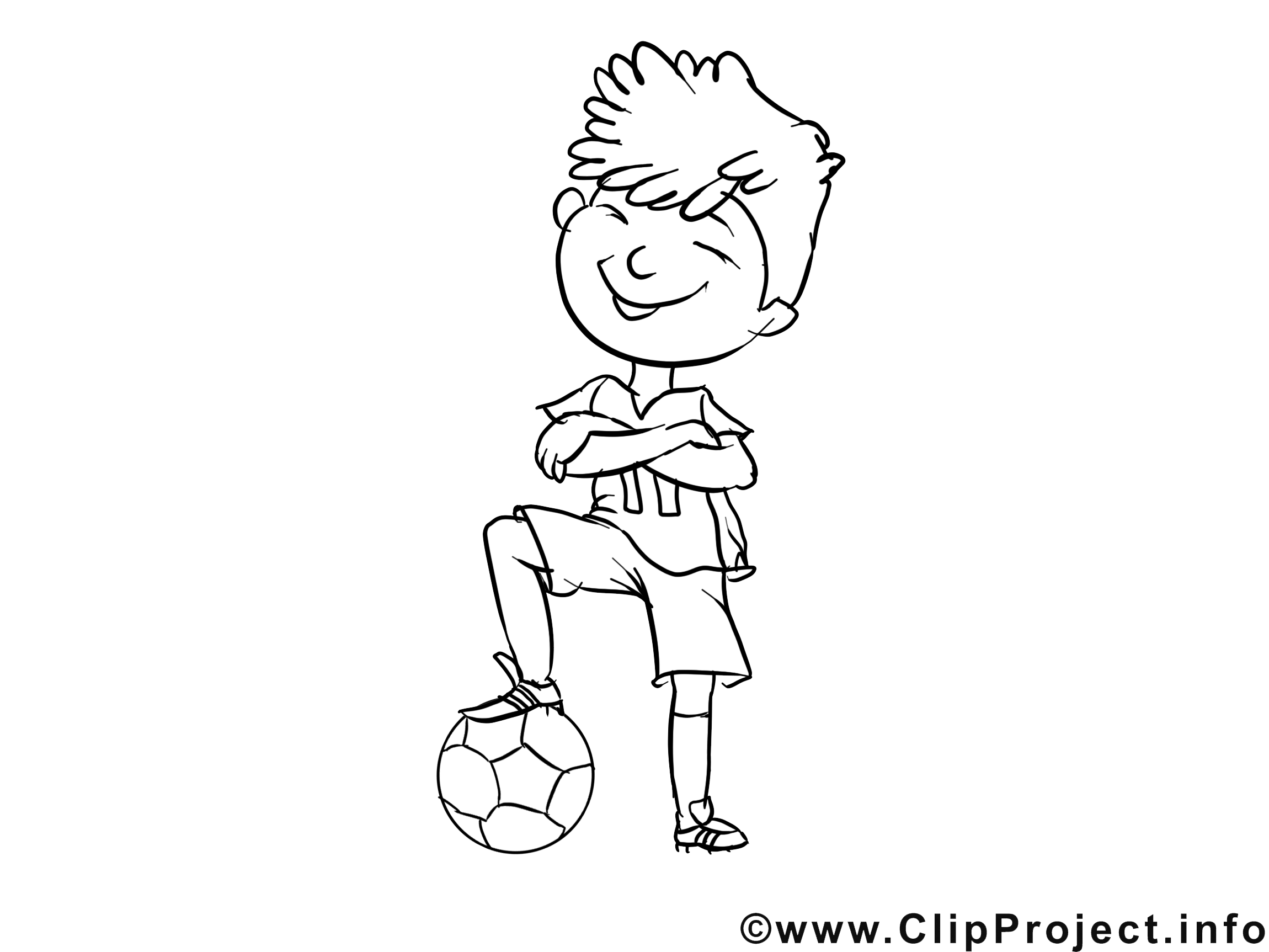 Footballeur illustration – Coloriage métiers cliparts