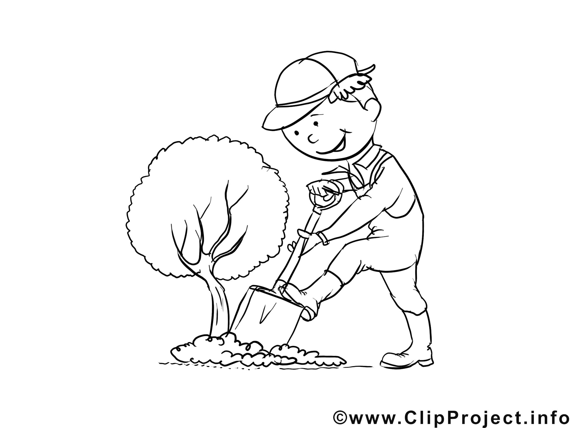 Meilleur De Image A Colorier Jardinier