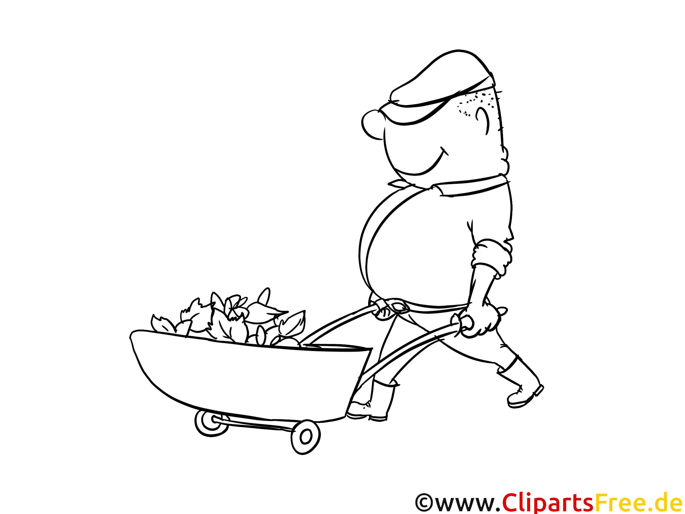 Jardinier dessin gratuit – Métiers à colorier
