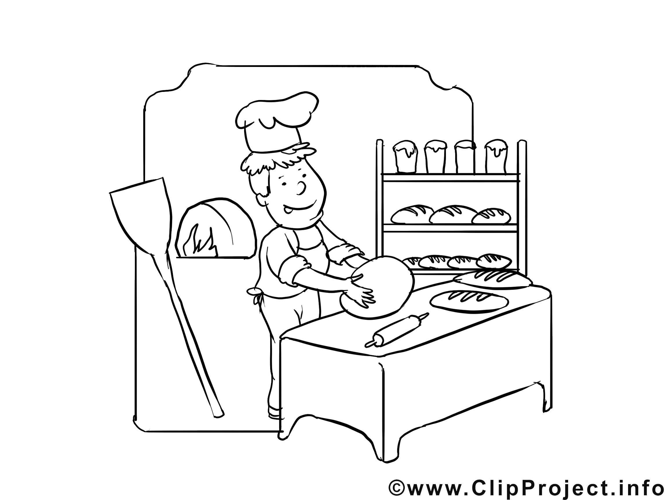Pâtissier cliparts gratuis – Métiers à imprimer