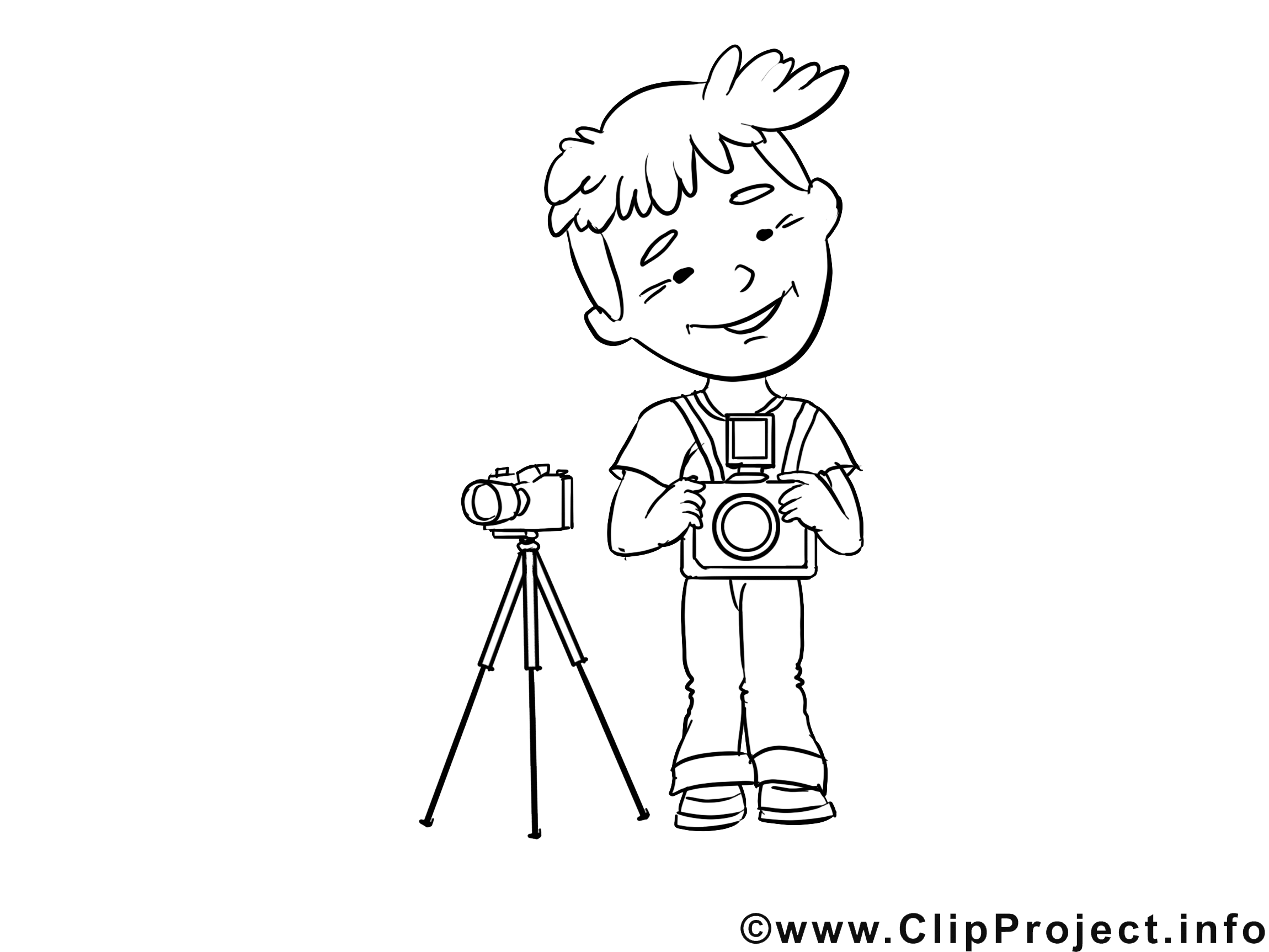 Photographe image à télécharger – Métiers à colorier