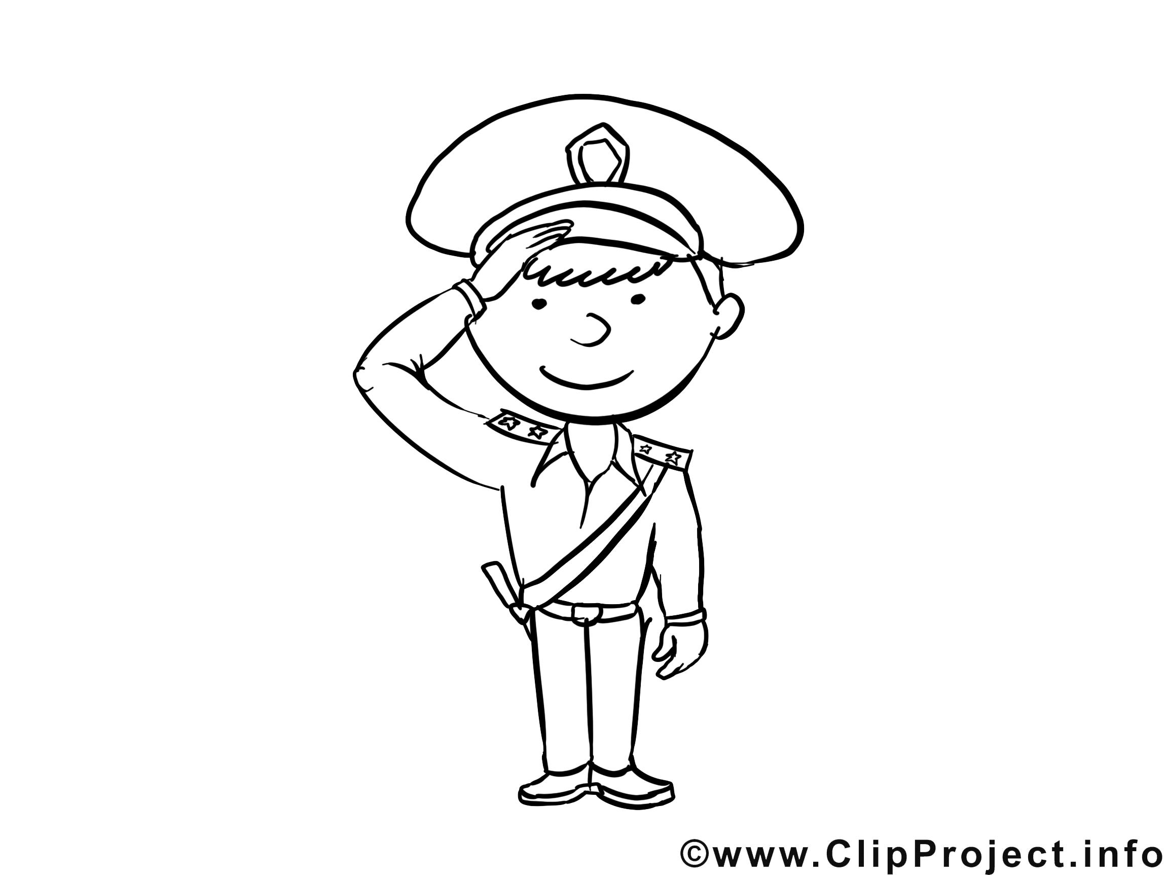 Policier images – Métiers gratuits à imprimer