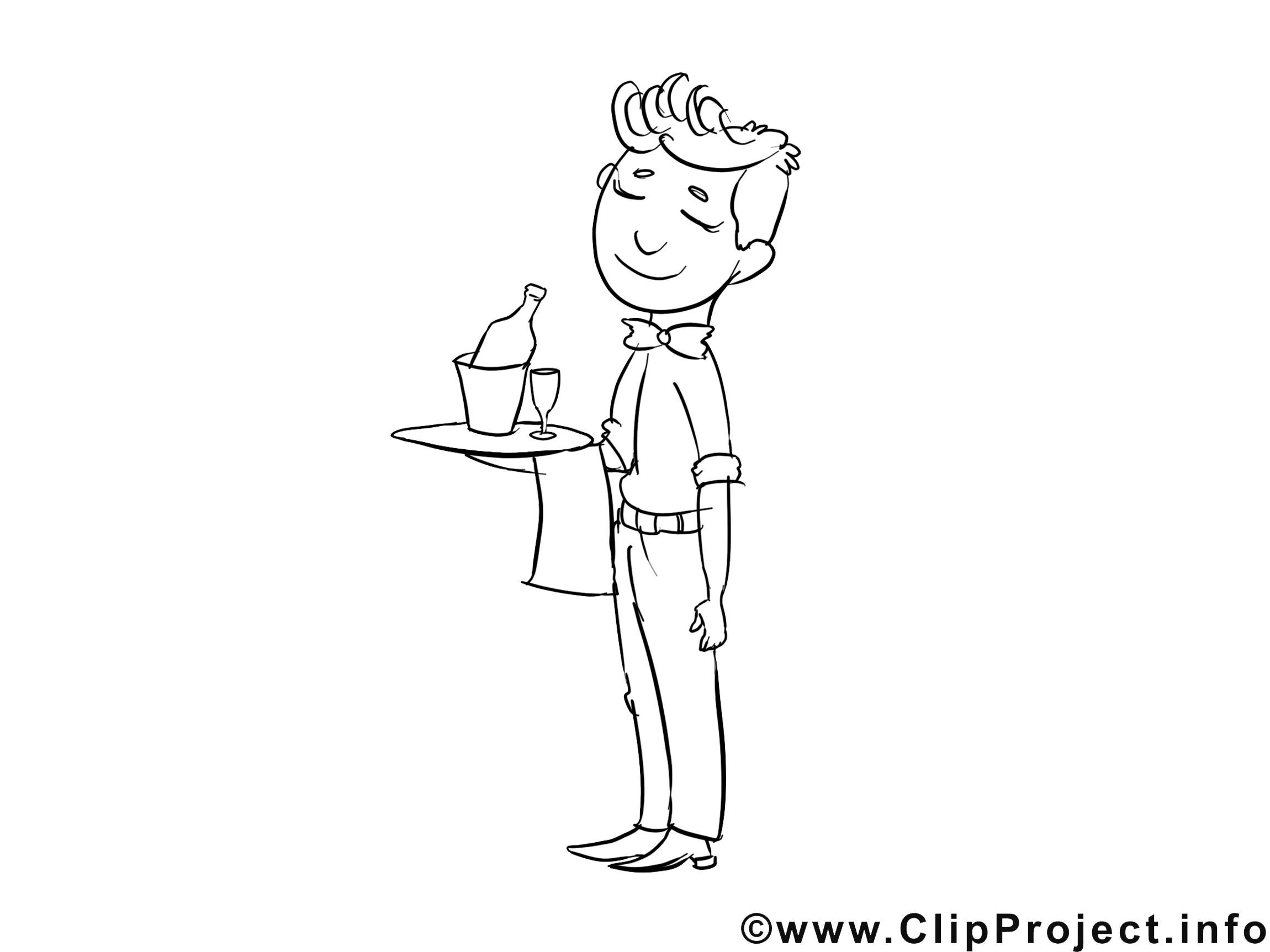 Serveur dessin à télécharger – Métiers à colorier
