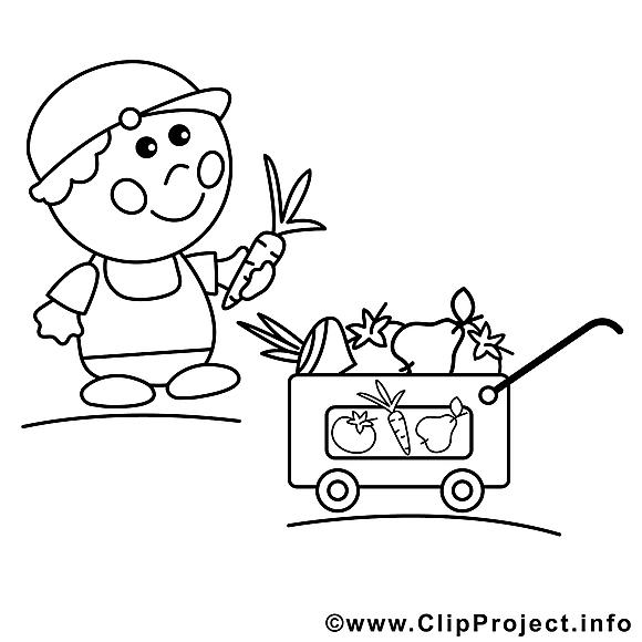 Vendeur clipart – Métiers dessins à colorier