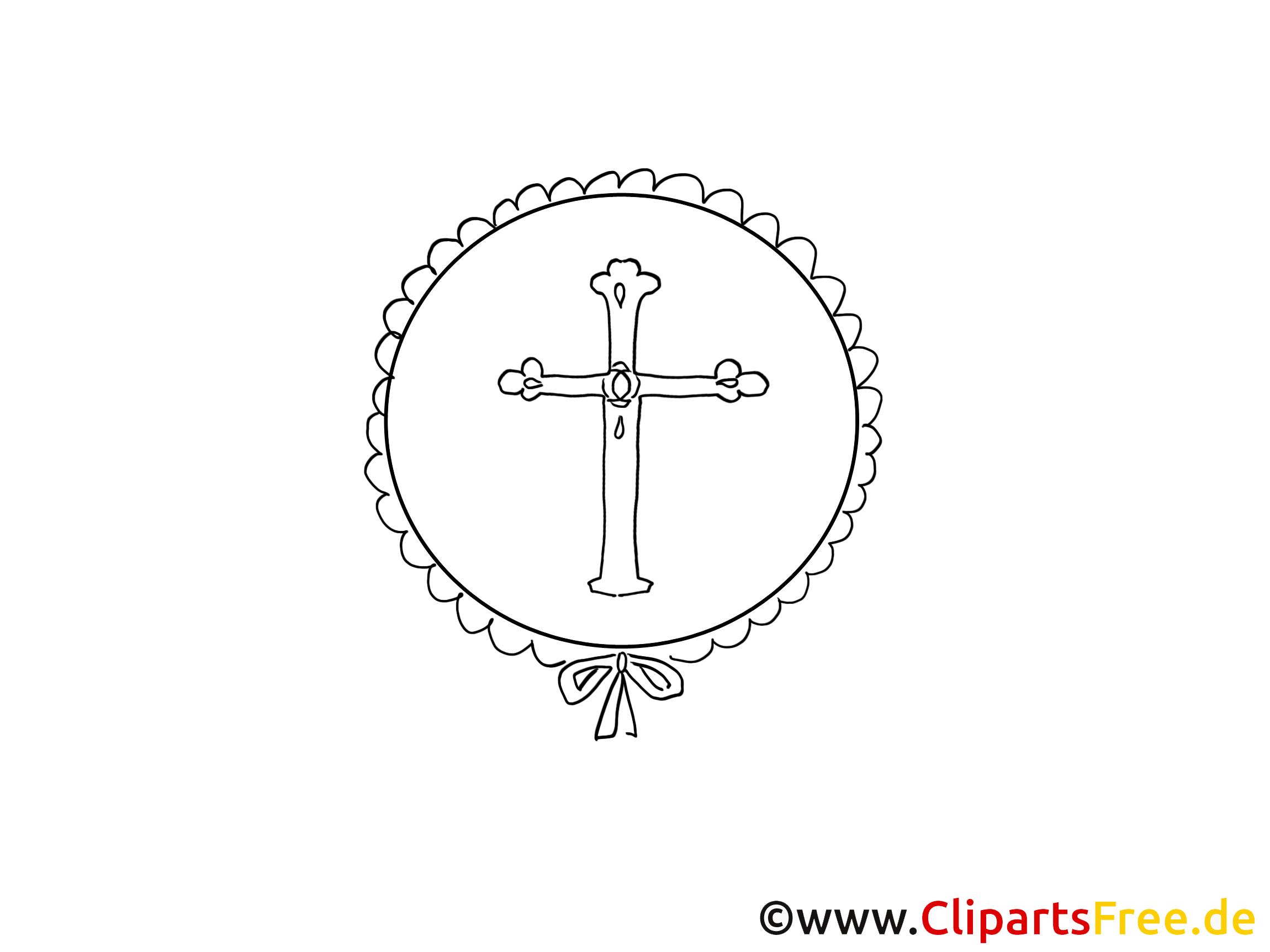 Cliparts gratuis croix – Baptême à imprimer