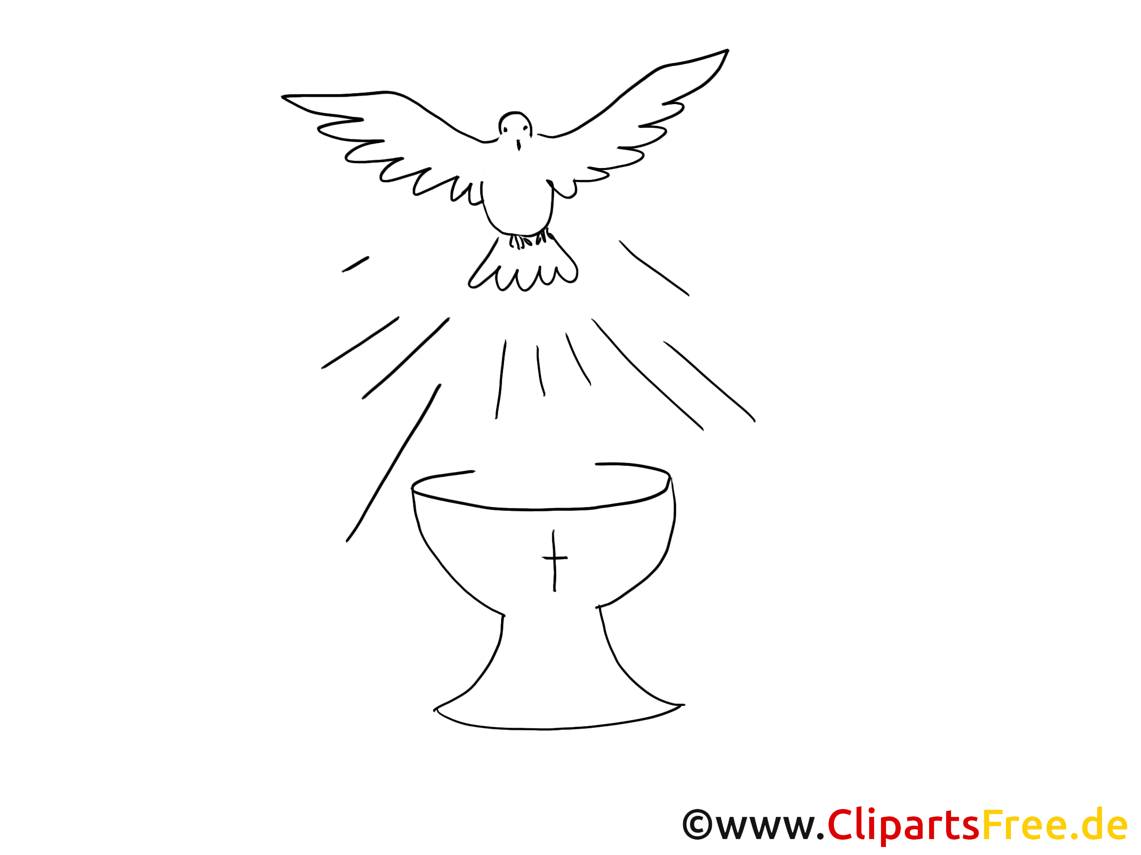 Dessins gratuits colombe – Baptême à colorier