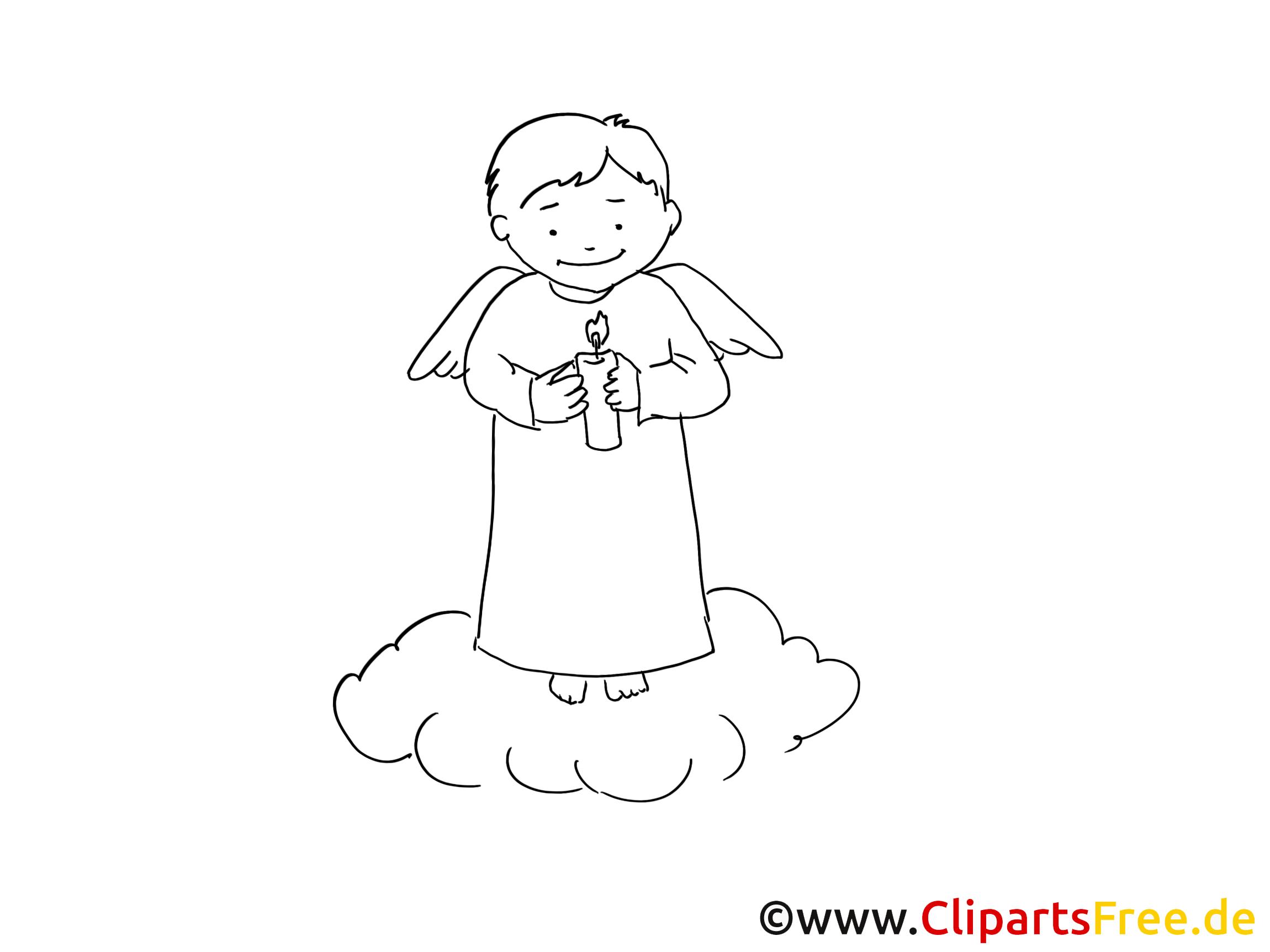 Häufig Illustration ange – Coloriage baptême illustration - Baptême  SJ54