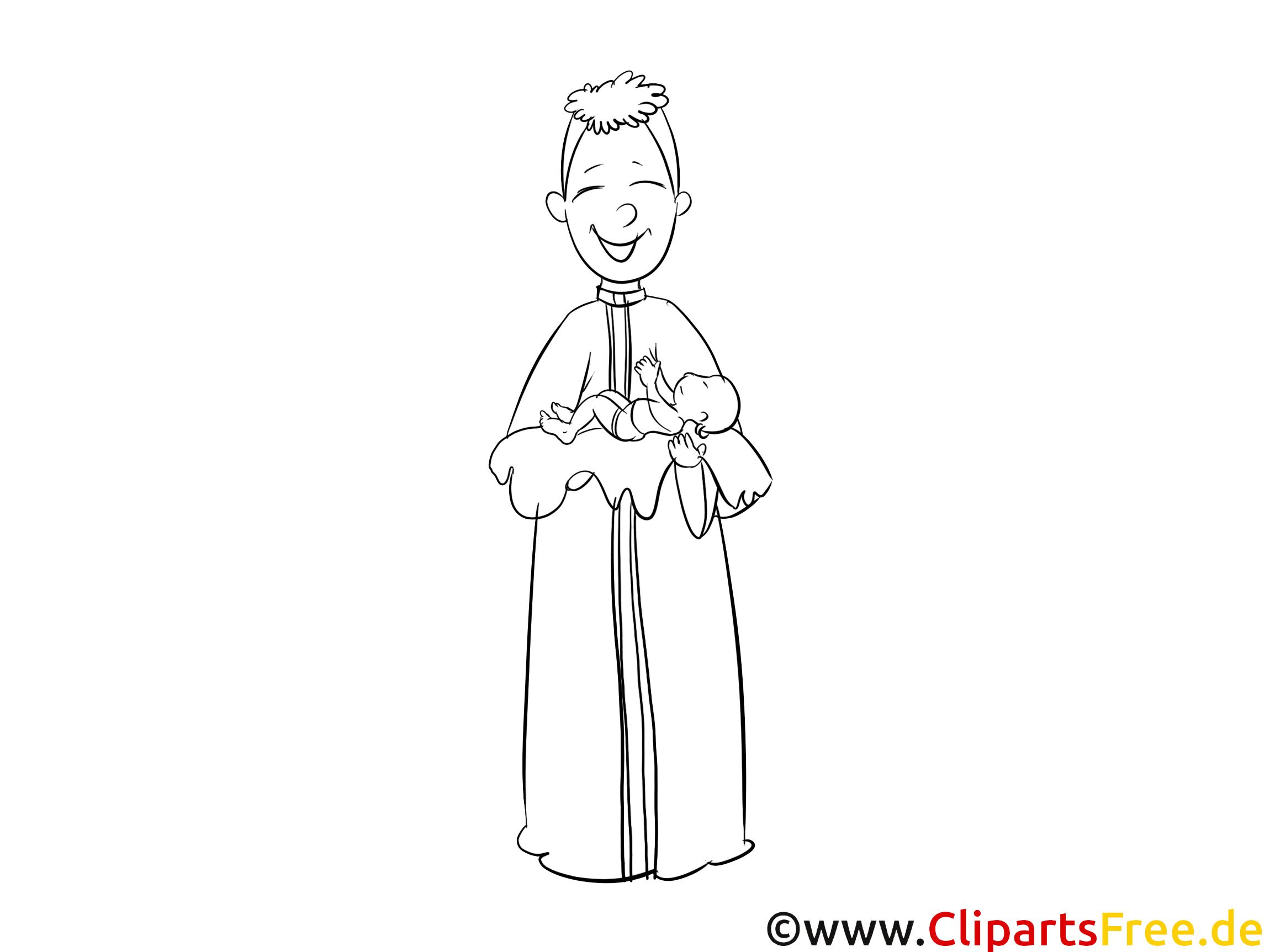 Images prêtre – Baptême gratuits à imprimer