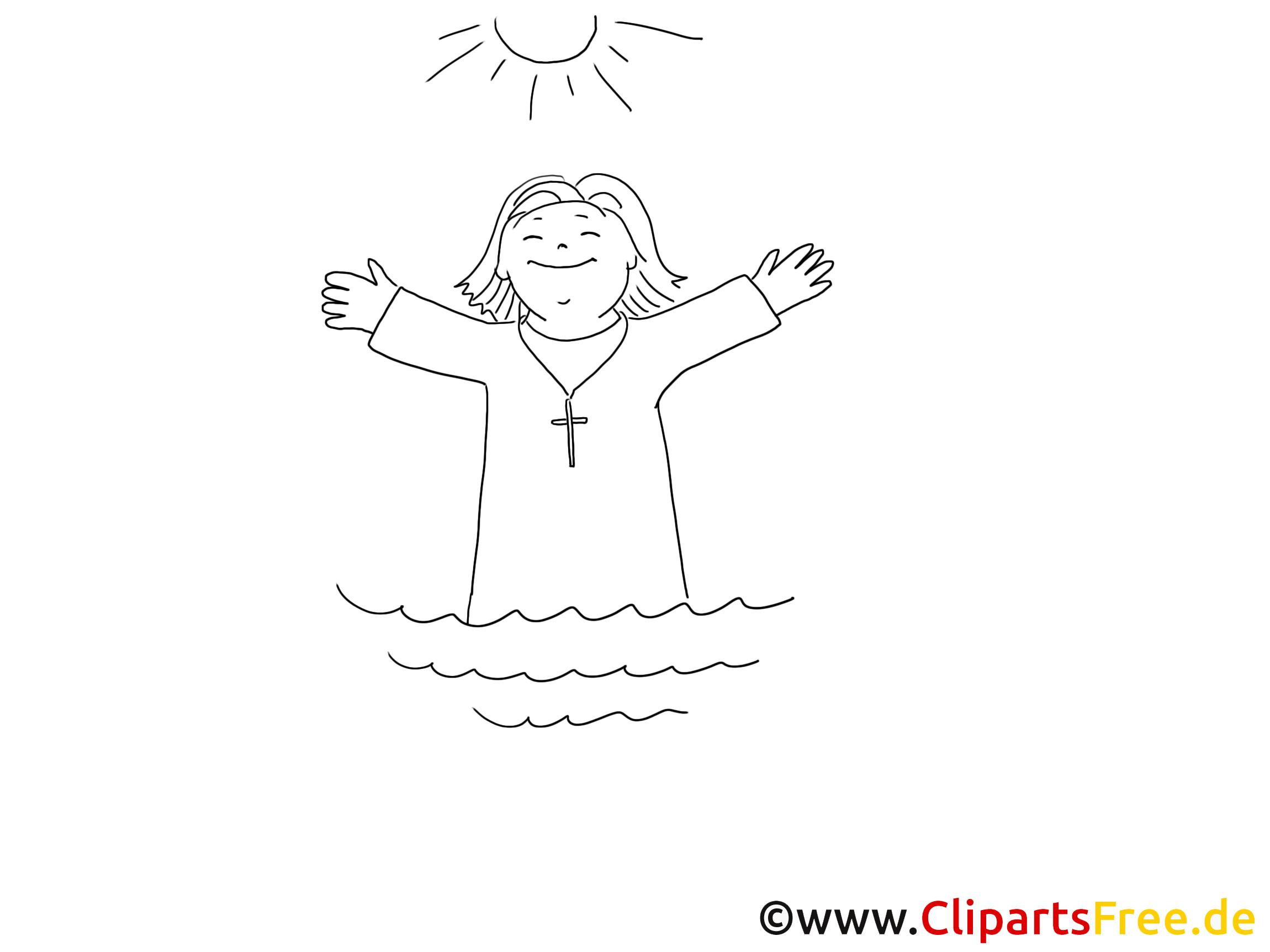 Mer dessin – Coloriage baptême à télécharger