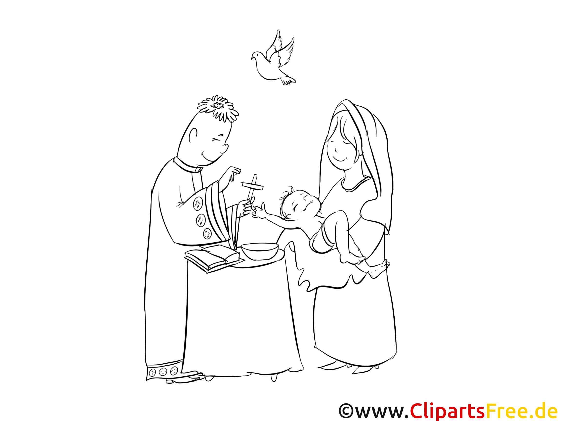 Prêtre dessin – Baptême gratuits à imprimer