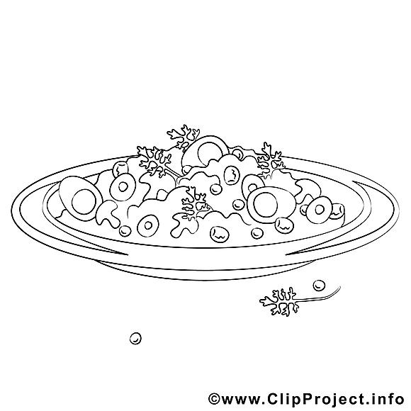 Salade Dessin Cuisine Gratuits à Imprimer Repas