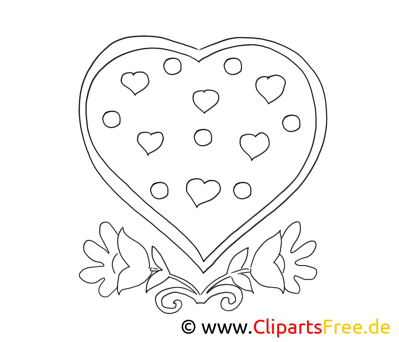 Dessin Gratuit Coeur Saint Valentin à Colorier Saint