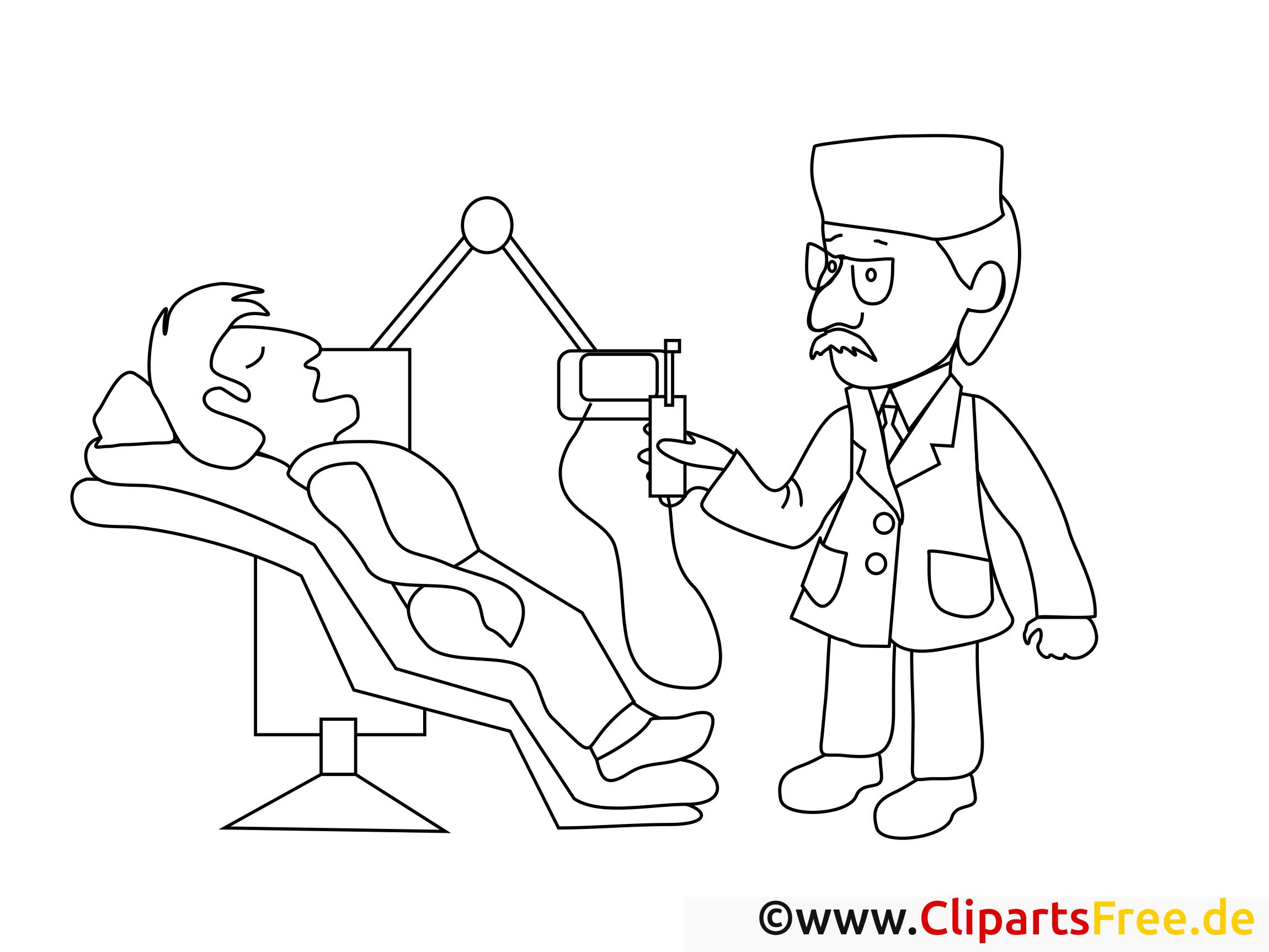 Coloriage dentiste santé image à télécharger