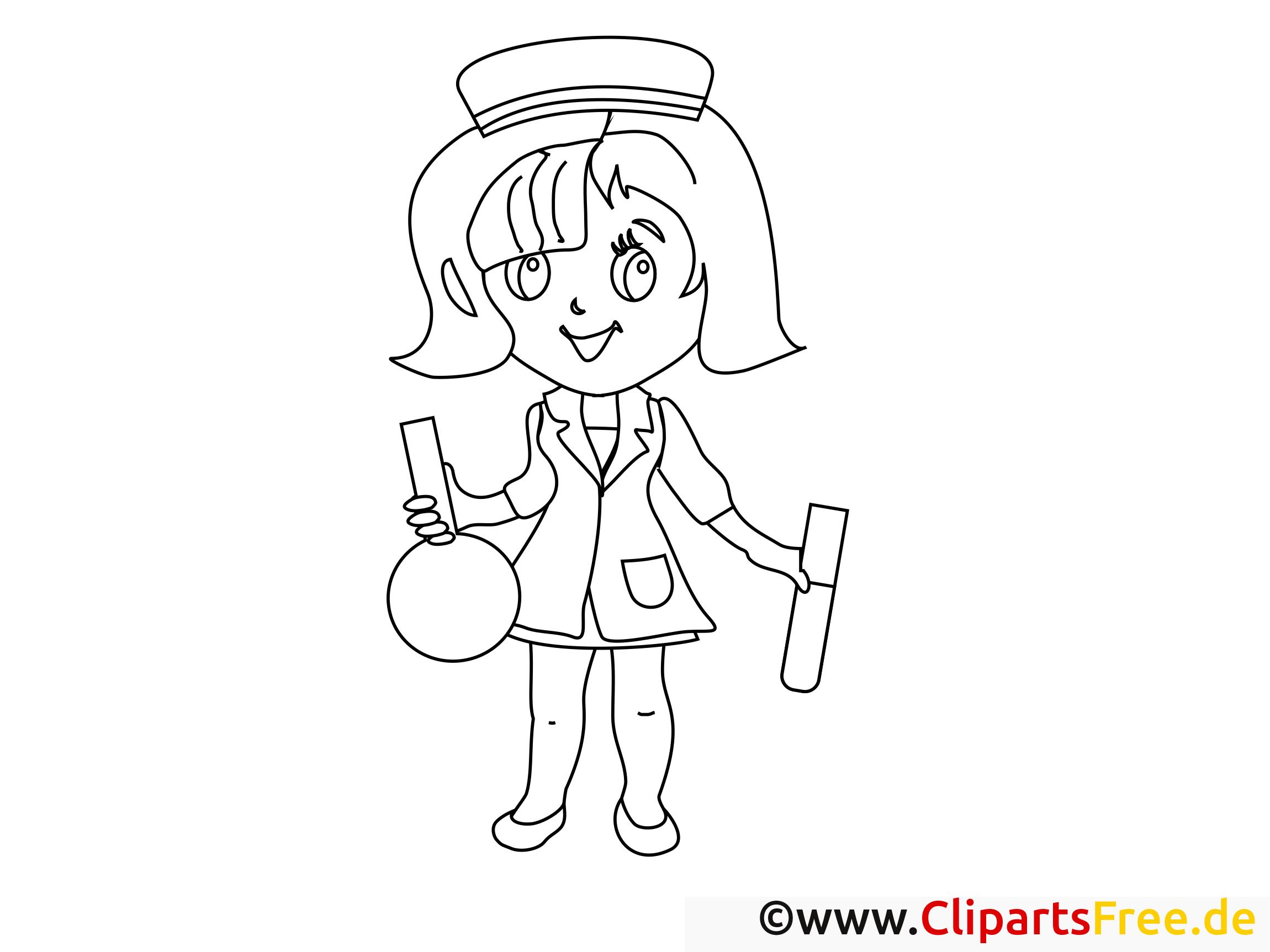 Flacon infirmière illustration – Santé à imprimer