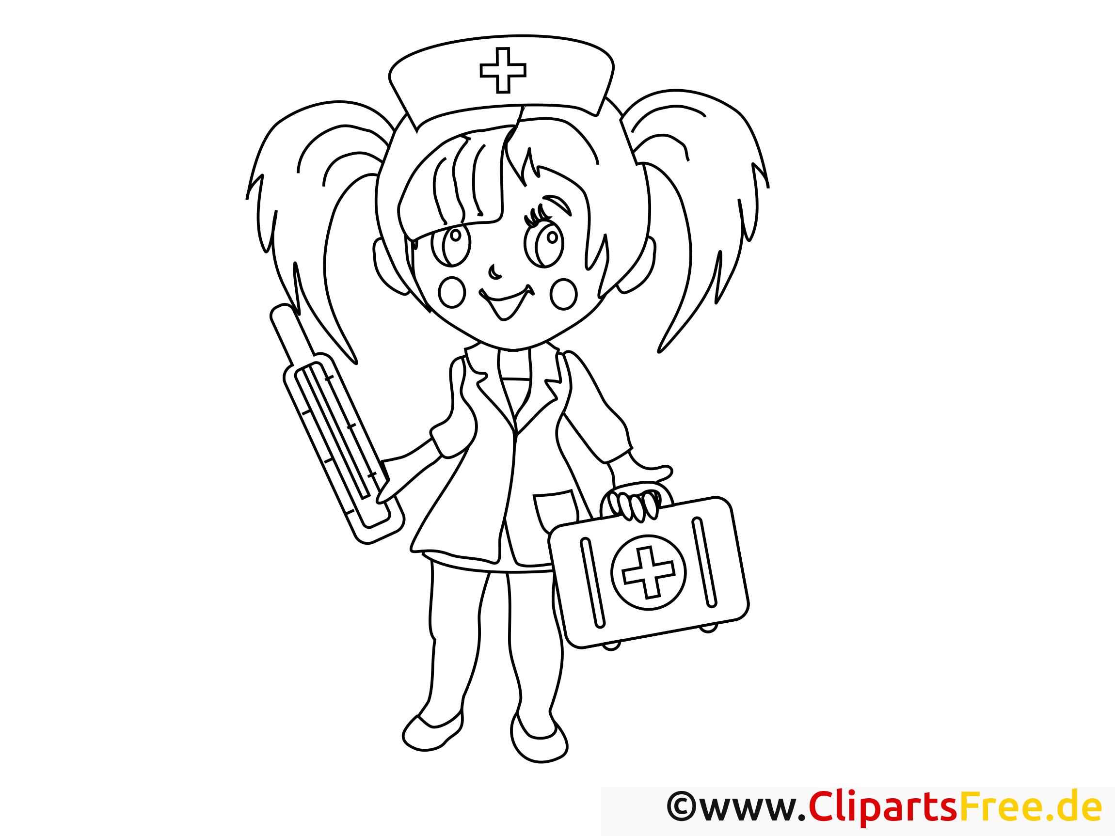 Infirmière dessin à télécharger – Santé à colorier