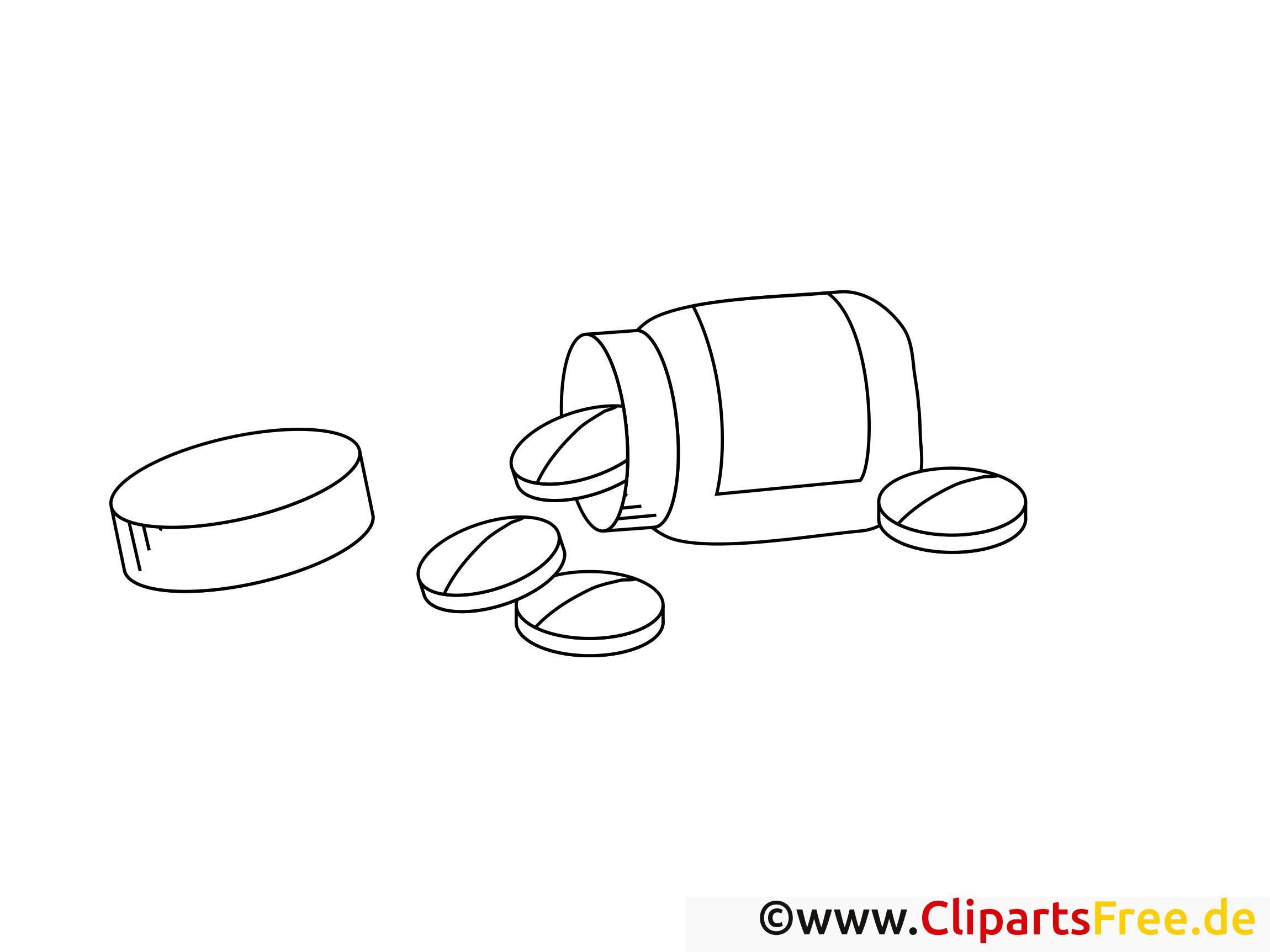 Médicaments clip arts – Santé à imprimer