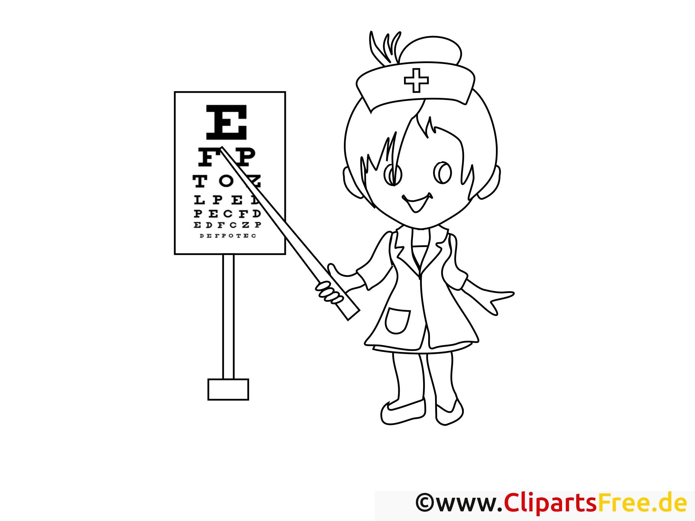 Oculiste illustration – Santé à colorier