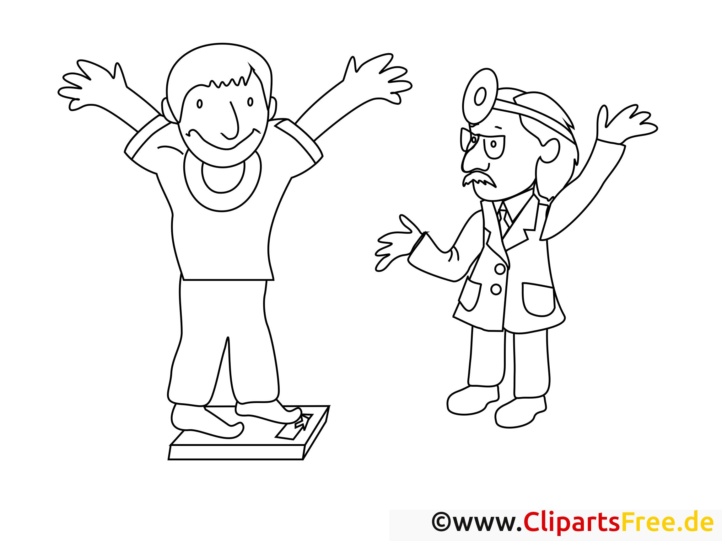 Poids image gratuite – Santé à colorier