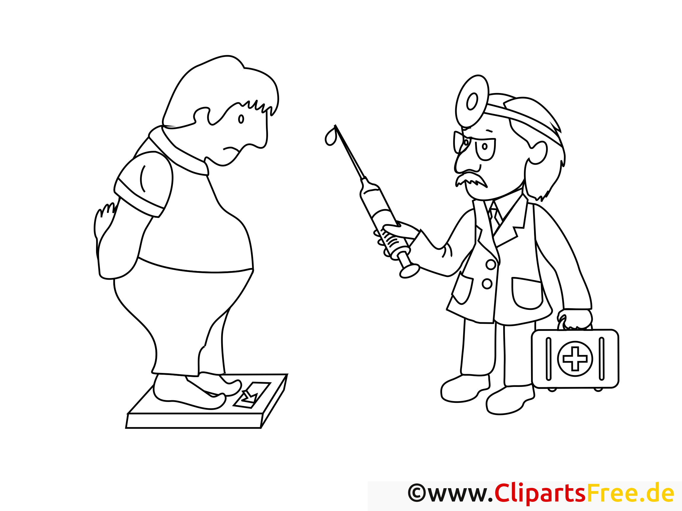 Surpoids illustration – Coloriage santé cliparts