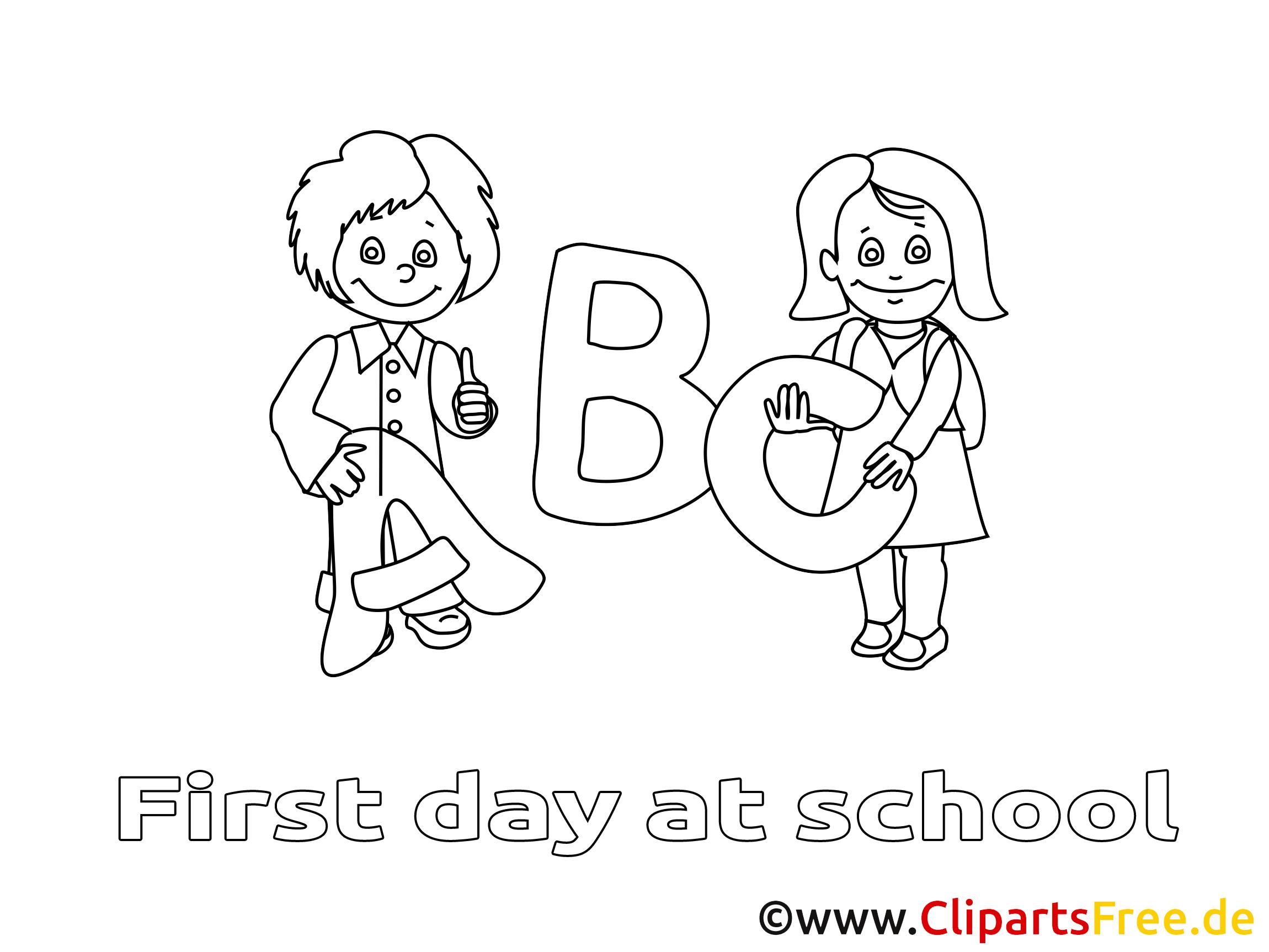 Alphabet dessin gratuit – Élémentaire à colorier