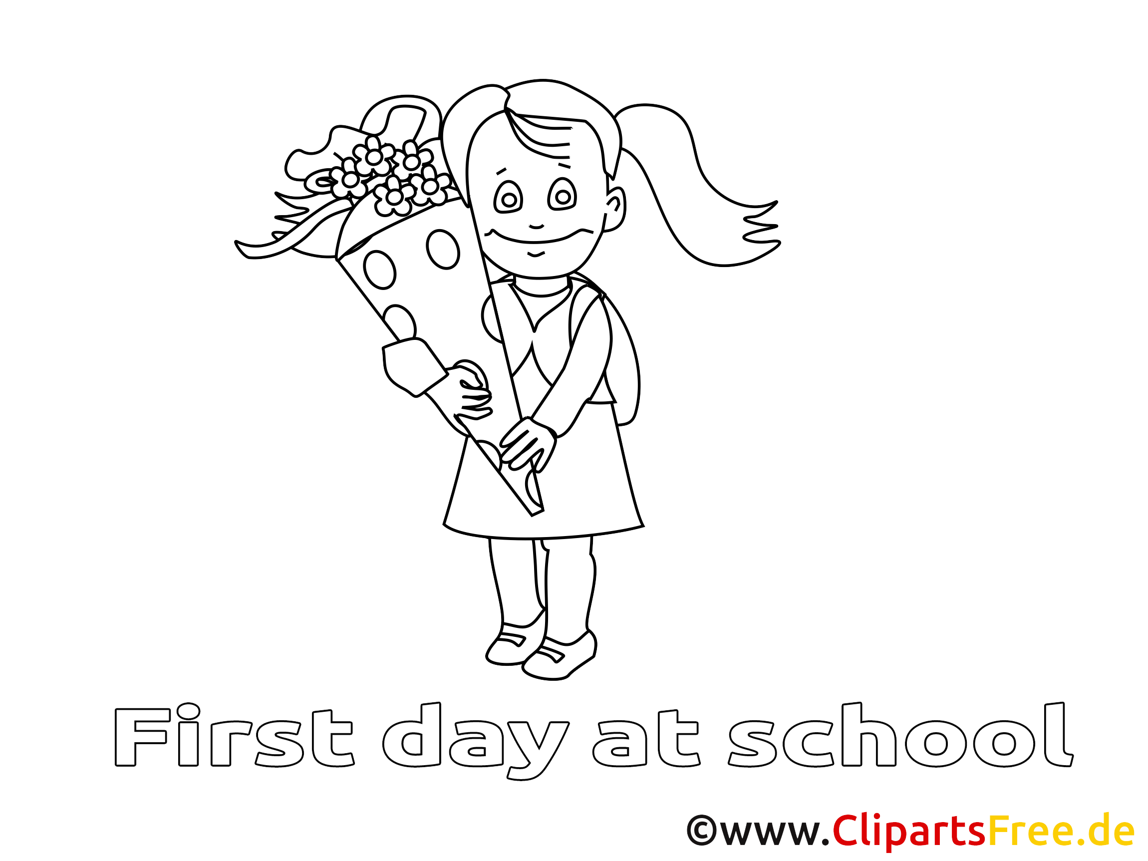 Bouquet clipart – Élémentaire dessins à colorier