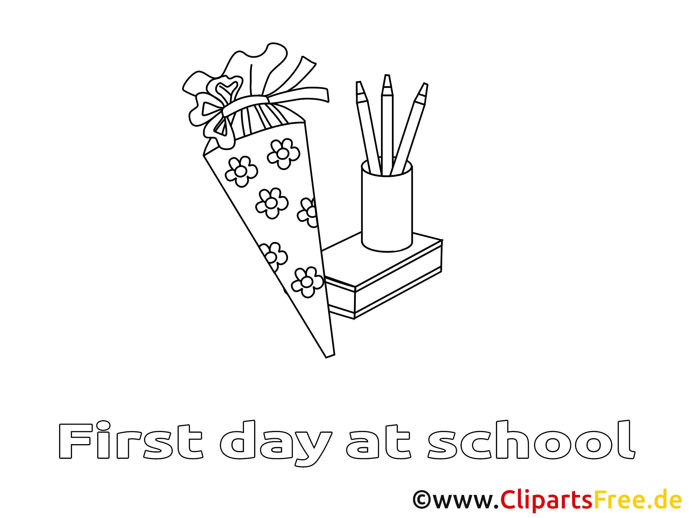Crayons image – Coloriage élémentaire illustration