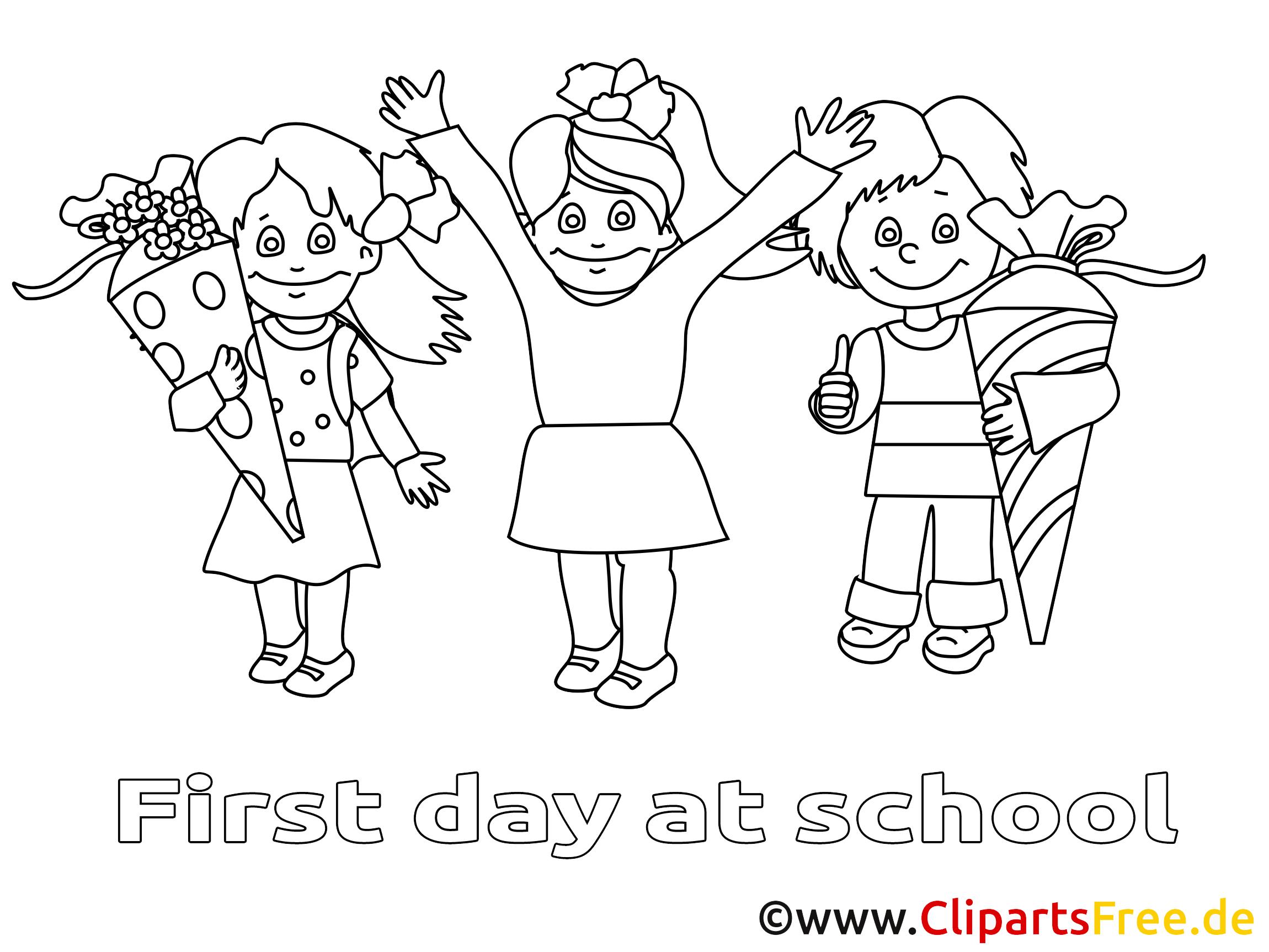 École image à télécharger – Élémentaire à colorier