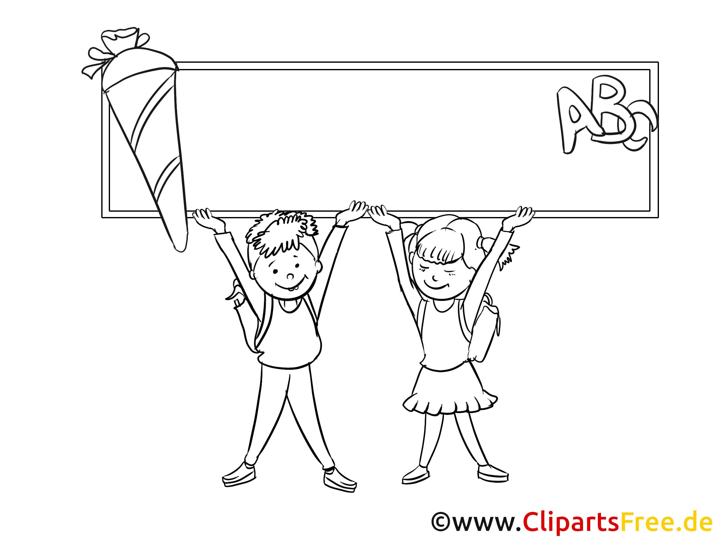 École images gratuites – Élémentaire à colorier